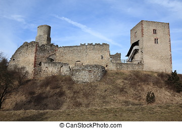 The ruins of the Brandenburg Castle in Germany