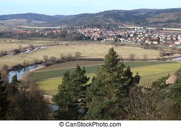 The Werra loops at Herleshausen in Germany