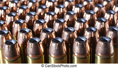Cartridges to last - Hollow point bullets on cartridges for...