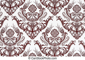 Weathered floral pattern - Weathered classical floral...