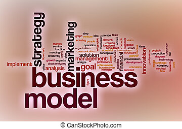 Business goals word cloud with abstract background