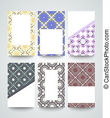 pattern cards vector templates