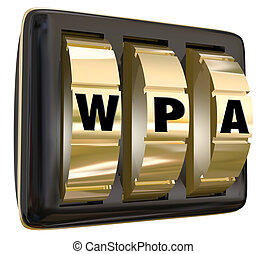 WPA Wifi Secure Network Computer Internet Protected Access...
