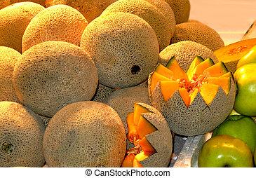 Cantaloup, Melon at Farmer\'s Market