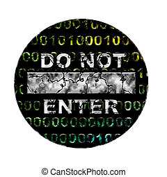 Do not enter - Social network sign isolated on white