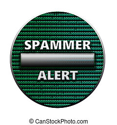 Spammer alert - Social network sign isolated on white