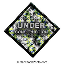 Under construction - Network sign isolated on white
