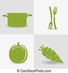 Food design. - Food design over white background, vector...