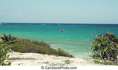Caribbean Boat at Sea