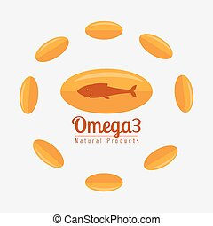 Omega oil design. - Omega design over white background,...