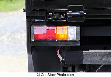 taillight of black car