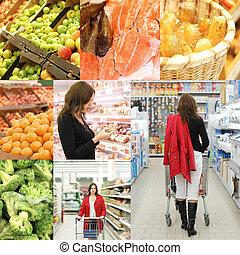 拼貼藝術, 相片, 超級市場