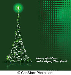 Christmas tree - Abstract vector illustration of a christmas...