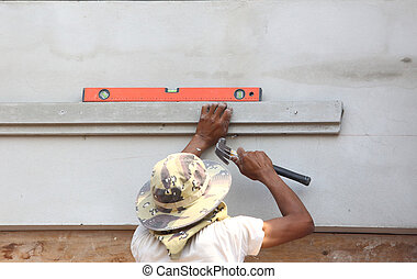 spirit level using for home construction