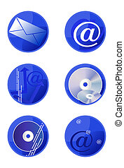 Multimedia Icons - Vector multimedia icons isolated on white...