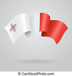 Maltese waving Flag Vector illustration Eps 8