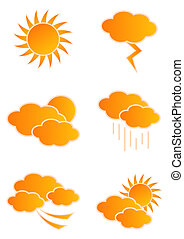 Weather Icons - Vector weather icons isolated on white...