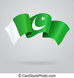 Pakistani waving Flag Vector illustration Eps 8
