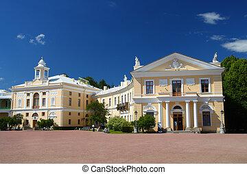 Grand palace in Pavlovsk park