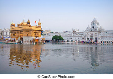 Golden Temple Amritsar - Morning view at Golden Temple in...