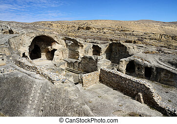 Ancient rock-hewn town Uplistsikhe in eastern...