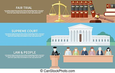 Fair trial. Supreme court. Law and people - Man in court....