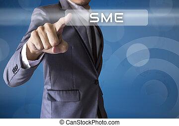 Businessman press SME of business conceptual