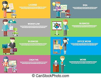 Business Peoples Professions - Set of peoples office...
