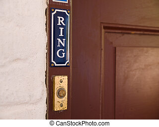 Ring door bell - Classical style door entry bell to ring
