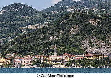 Lake side village of Varenna on lake como, Italy