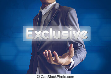 Businessman or Salaryman with Exclusive text modern...