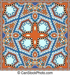neck scarf or kerchief square pattern design - silk neck...