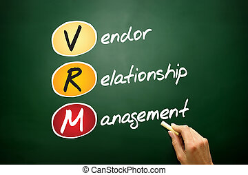 Vendor relationship management - VRM acronym Vendor...