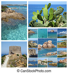 Sardinia sea collage