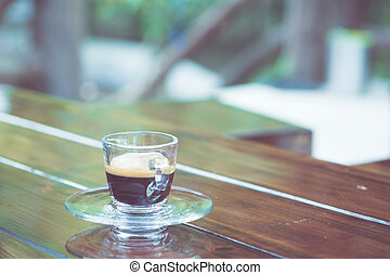 Americano Coffee cup on table