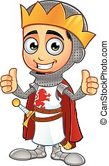 St George Boy King Character - A illustration of a cartoon...