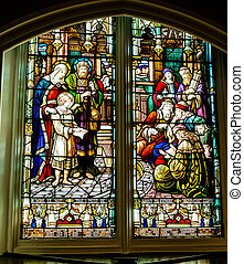 Beautiful Scene in Stained Glass - Beautiful stained glass...