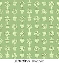 flower pots pattern - Seamless pattern with flower pots...