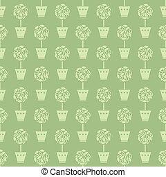 flower pots pattern - Seamless pattern with flower pots...