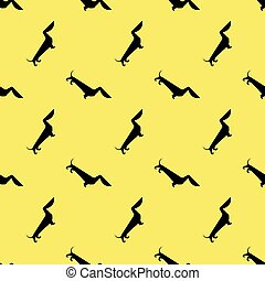 dog dachshund pattern - Seamless pattern with dog dachshund...