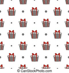 gift boxes pattern - Seamless pattern with gift boxes vector...