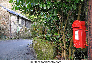 Rural Post Box - An English village post box. Taken in the...