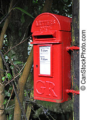 Rural Post Box - An English village post box . Taken in the...