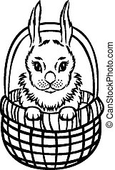 Little Easter Rabbit in basket