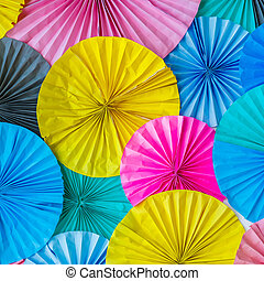 mönster, cirkel, papper, färgrik, bakgrund