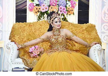 mariée, indonésien