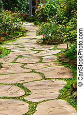foot path in garden