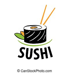 vector logo Japanese food sushi