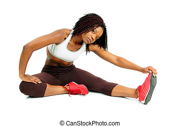 Exercise - African American Woman Dressed For Fitness...