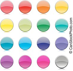 Set of multicolored buttons